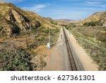 Railroad Track In The Mojave...