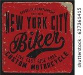 vintage biker graphics and...   Shutterstock .eps vector #627361415