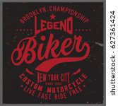 vintage biker graphics and... | Shutterstock .eps vector #627361424