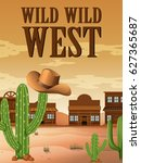 Wild West Poster With Building...