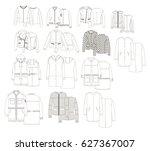 female technical sketch of...   Shutterstock .eps vector #627367007