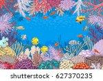 Hand Drawn Underwater Natural...