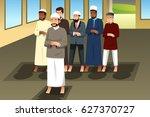a vector illustration of muslim ... | Shutterstock .eps vector #627370727