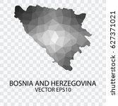 transparent   vector map of... | Shutterstock .eps vector #627371021