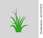 green grass isolated vector... | Shutterstock .eps vector #627374315