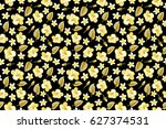 exotic multicolor flowers in... | Shutterstock . vector #627374531