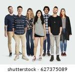 group of diversity people... | Shutterstock . vector #627375089