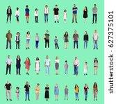 diversity people set gesture... | Shutterstock . vector #627375101