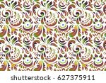 yellow and green seamless... | Shutterstock . vector #627375911