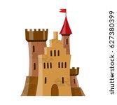 fairy medieval castle in... | Shutterstock .eps vector #627380399