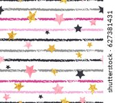 seamless striped pattern with... | Shutterstock .eps vector #627381431