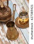 vintage egyptian coffee maker... | Shutterstock . vector #627385421