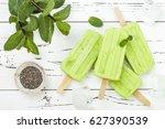 homemade vegan green tea matcha ... | Shutterstock . vector #627390539