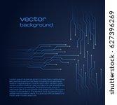 abstract technological dark... | Shutterstock .eps vector #627396269
