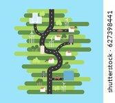 location map flat design vector ...   Shutterstock .eps vector #627398441