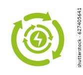 recycle energy arrows icon | Shutterstock .eps vector #627405641