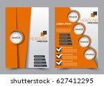 flyer and brochure template.... | Shutterstock .eps vector #627412295