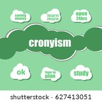 word cronyism. business concept ... | Shutterstock . vector #627413051