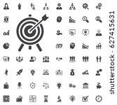 target icon. vector... | Shutterstock .eps vector #627415631