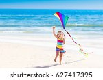 happy laughing little girl... | Shutterstock . vector #627417395