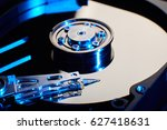 conventional computer hard disk ... | Shutterstock . vector #627418631