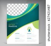 vector abstract template design ... | Shutterstock .eps vector #627421487