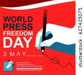 world press freedom day | Shutterstock .eps vector #627425075