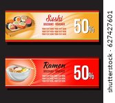 sushi and ramen discount... | Shutterstock .eps vector #627427601