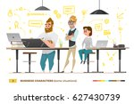 business characters in some... | Shutterstock .eps vector #627430739