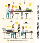 business characters in some... | Shutterstock .eps vector #627430751