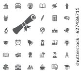simple icon diploma on the... | Shutterstock .eps vector #627436715