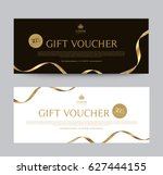 gift voucher template promotion ... | Shutterstock .eps vector #627444155