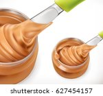 peanut butter  3d vector icon | Shutterstock .eps vector #627454157
