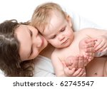 young mummy and her kid on a... | Shutterstock . vector #62745547