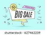 ribbon banner with text big...   Shutterstock .eps vector #627462239