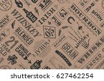 seamless pattern with types of... | Shutterstock .eps vector #627462254