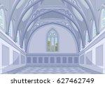 illustration of medieval castle ... | Shutterstock .eps vector #627462749
