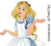 illustration of alice... | Shutterstock .eps vector #627462761