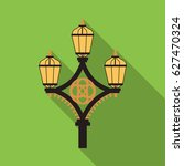 street light icon in flat style ... | Shutterstock .eps vector #627470324