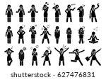 businesswoman feelings and... | Shutterstock .eps vector #627476831