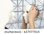 cyborg  clone  robot and... | Shutterstock . vector #627477014