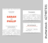 invitation cards for a holiday... | Shutterstock .eps vector #627487331