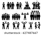 businesswoman ceo leader.... | Shutterstock . vector #627487667