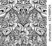 barong. traditional ritual... | Shutterstock .eps vector #627488924