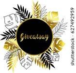 giveaway. calligraphy... | Shutterstock .eps vector #627492959