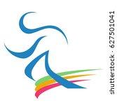 runner logo | Shutterstock .eps vector #627501041