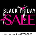 black friday sale sign with... | Shutterstock .eps vector #627505829