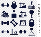 lifting icons set. set of 16... | Shutterstock .eps vector #627506219