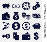 currency icons set. set of 16... | Shutterstock .eps vector #627506234