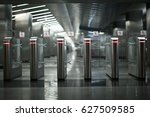 checkpoint in the gray metro at ... | Shutterstock . vector #627509585